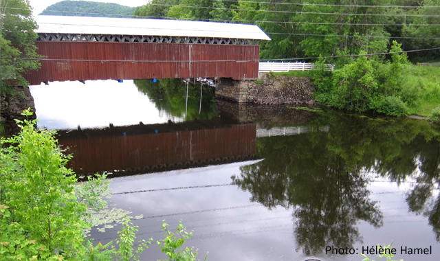 Narrow covered bridge